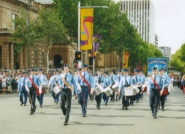 Air League massed band at Federation Day ceremonies