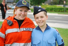 Cadets participate in community service events