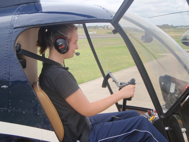 Me at the controls!