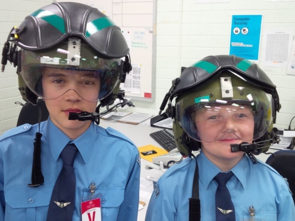 Cadets with helmets