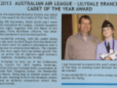 2013 Cadet of the Year – Lilydale
