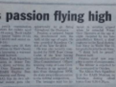 Preston's Passion Flying High