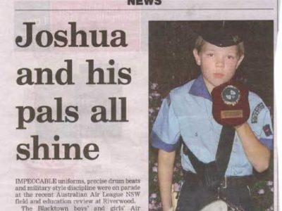 Joshua and his pals all shine – Blacktown Advocate 3rd Oct 2006