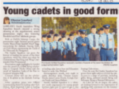 Young Cadets in Good Form