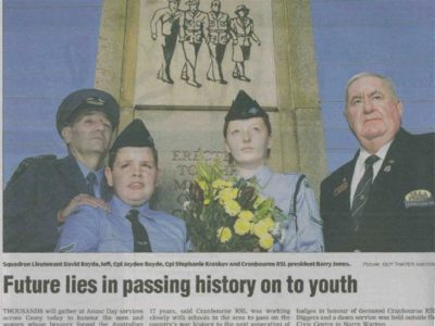 Future lies in passing history on to the youth