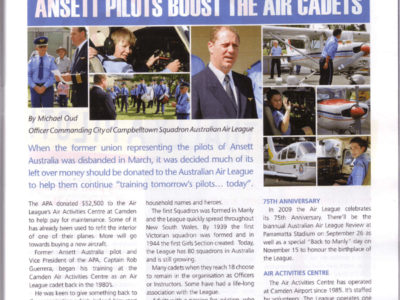 Former Ansett Pilot Association Supports the Air League