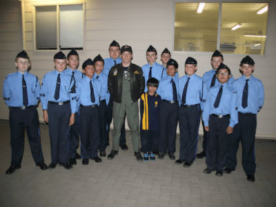 RAAF Pilot and Former Air League Officer visits Gawler Airfield Squadron